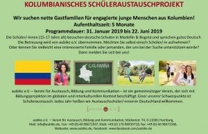 Handflyer_Gastfamiliensuche_Kolumbien_Feb2019