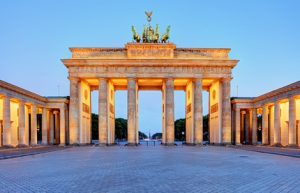 Berlin Gate, Brandenburg at night, Germany