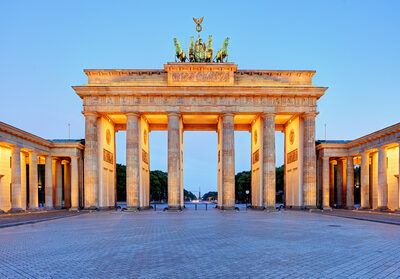 Berlin Gate, Brandenburg at night, Germany