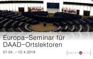 Europa-Seminar für DAAD-Ortslektoren