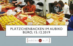 Plätzchen Backen aubiko Büro20192
